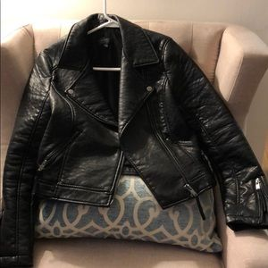 Topshop Faux Leather Jacket (Size 6)